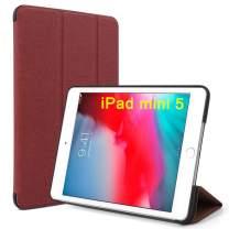 Maxace for iPad Mini 5 Case 5th Generation iPad Mini, Slim Lightweight Tri-fold Stand Case, Auto Wake/Sleep, Smart Cover for iPad Mini Case 5 2019 - Red