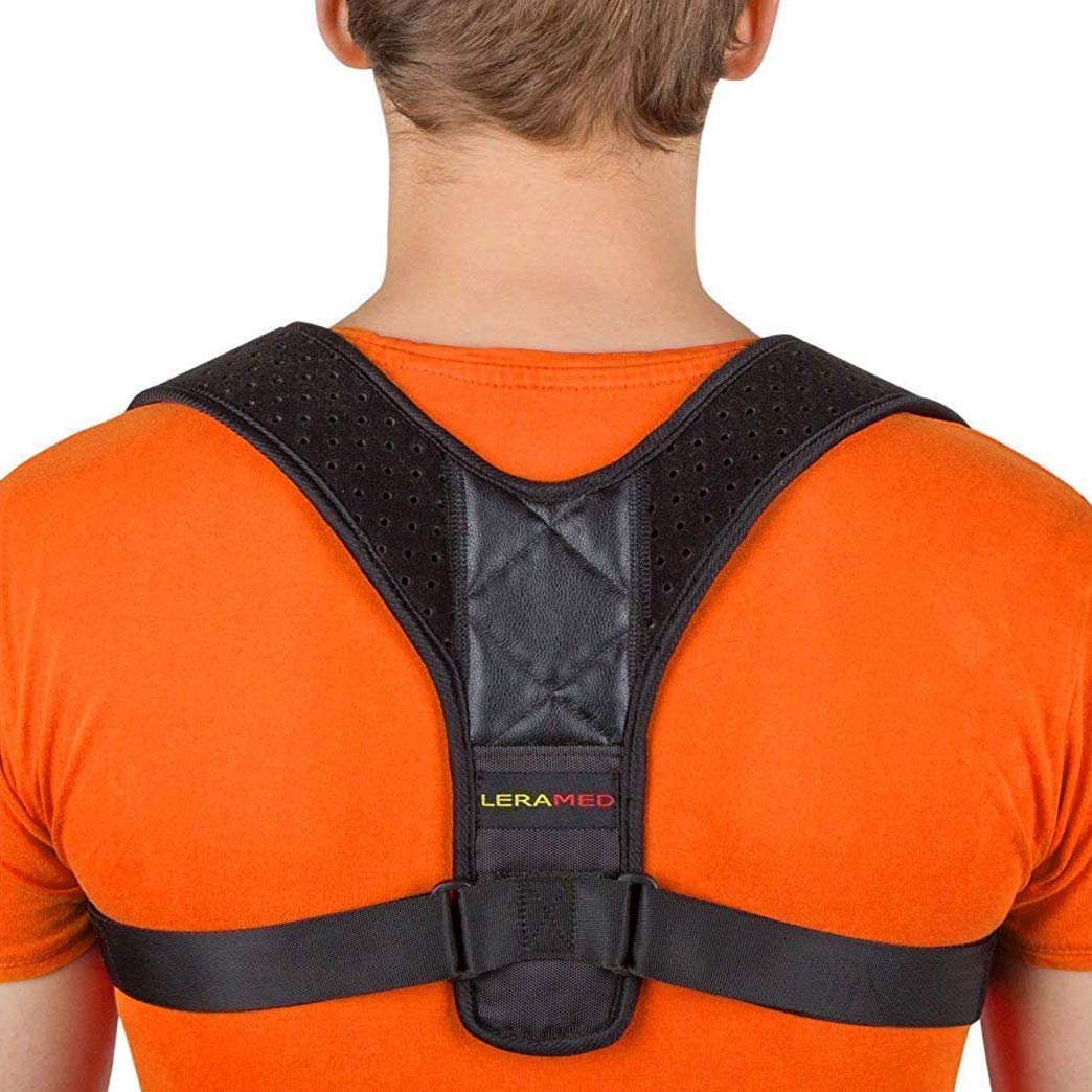 "Posture Corrector for Men and Women - Adjustable Upper Back Brace for Clavicle Support and Providing Pain Relief from Neck,Back and Shoulder (Chest Size 25"" - 50"")"
