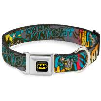 "Buckle-Down Seatbelt Buckle Dog Collar - Batman Dark Knight - 1.5"" Wide - Fits 18-32"" Neck - Large"