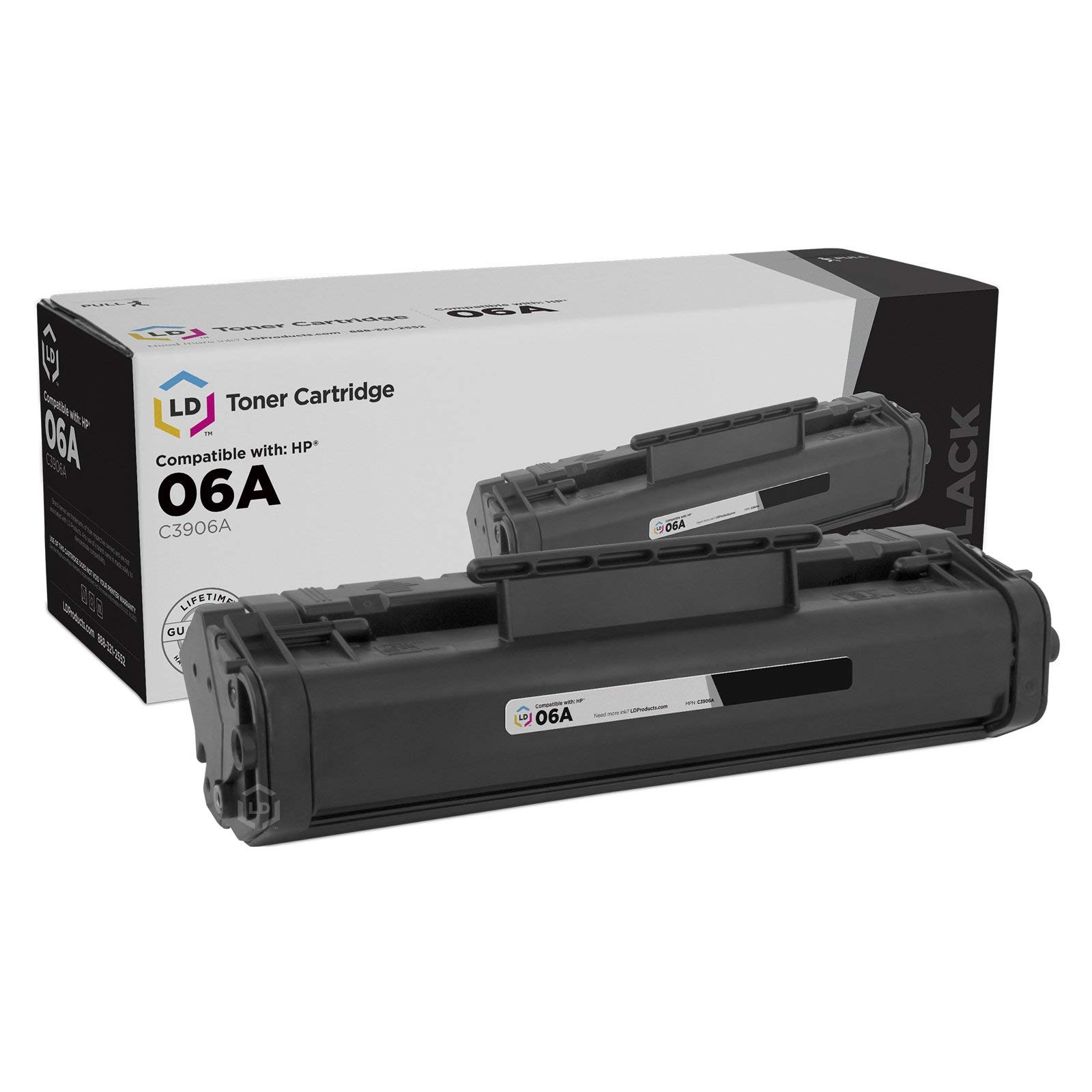 LD Remanufactured Toner Cartridge Replacement for HP 06A C3906A (Black)