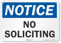 """""""Notice - No Soliciting"""" Sign by SmartSign 