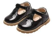 WUIWUIYU Toddlers Little Girls Retro T-Strap Princess Oxfords Mary Janes Flats School Dress Shoes