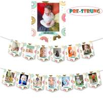 Donut Baby First Birthday Photo Banner Sweet One Donut Grow Up Doughnut Themed Baby Girl 1st Birthday Baby Shower Party Supplies Decorations Photo Props