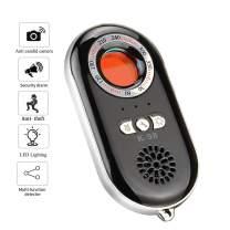 Anti-Spy Hidden Camera Laser Detector Spy Camera Finder Anti Theft Alarm,Personal Security Alarm Security Motion Vibration Sensor for Travel,Home,Office (Black)