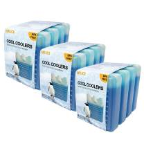 Cool Coolers Slim Ice Packs, Mini Size Freezer Cold Pack for Lunch Box, Bags, Camping, Reusable and Lightweight