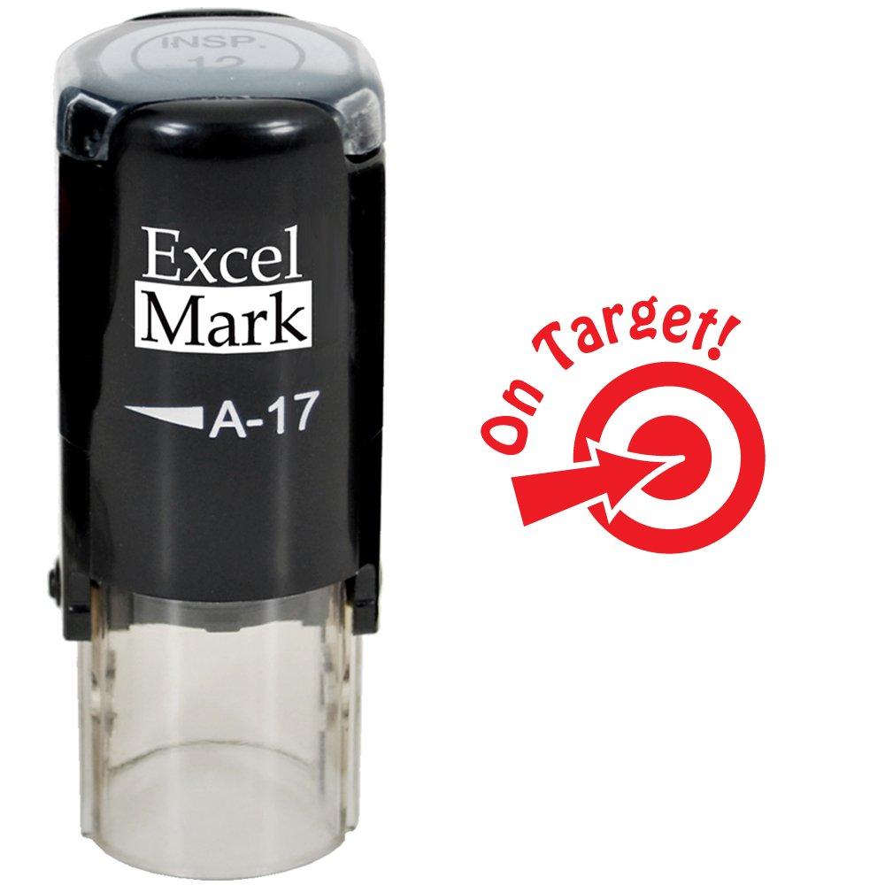 Round Teacher Stamp - ON Target! - RED Ink