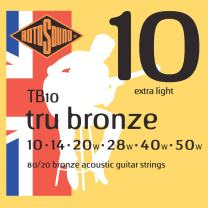 Rotosound TB10 Tru Bronze Acoustic Guitar Strings (10-50)