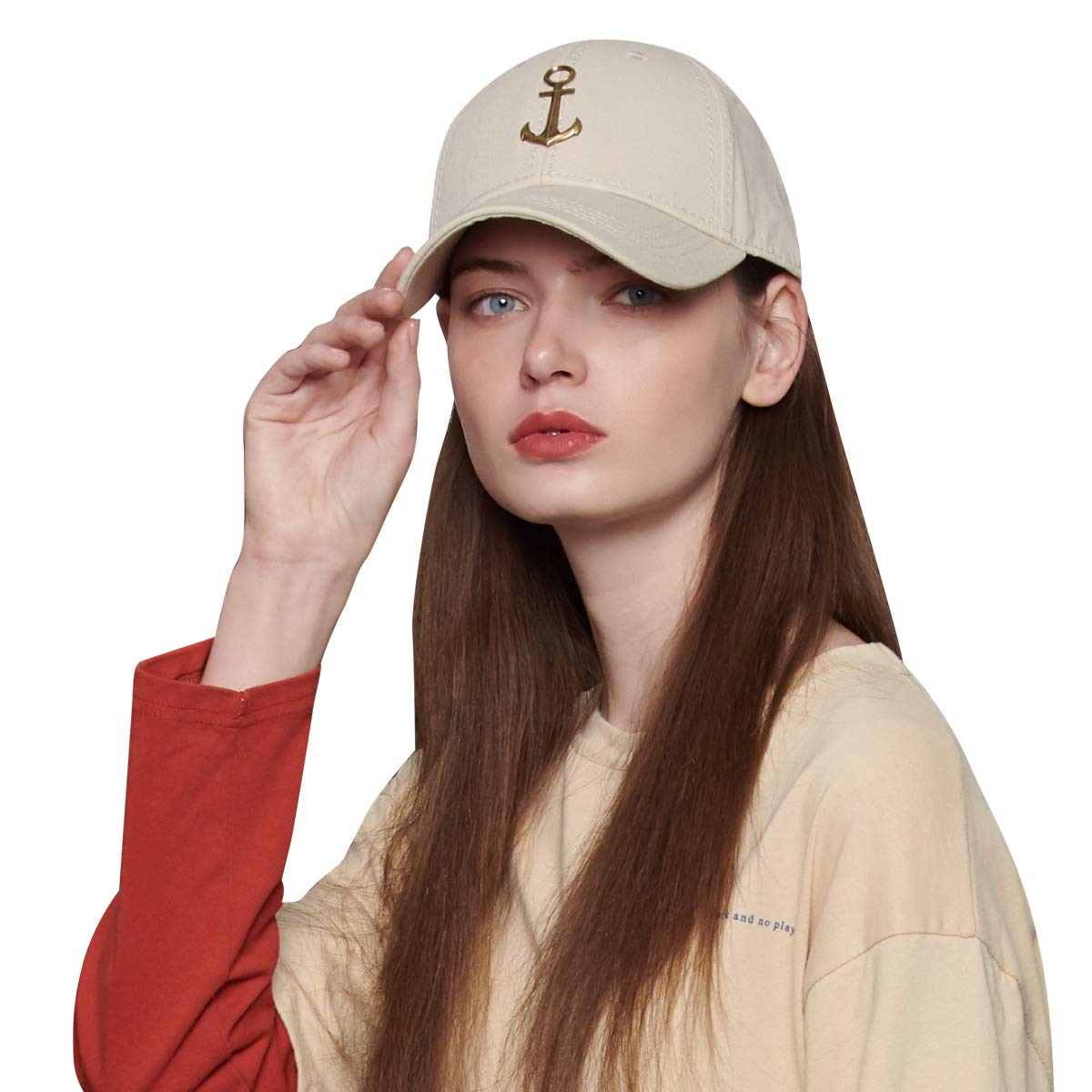 CACUSS Baseball Cap Women's Cotton Classic Plain Adjustable Dad Hat Fashionable Outdoor Sports Sun Hat