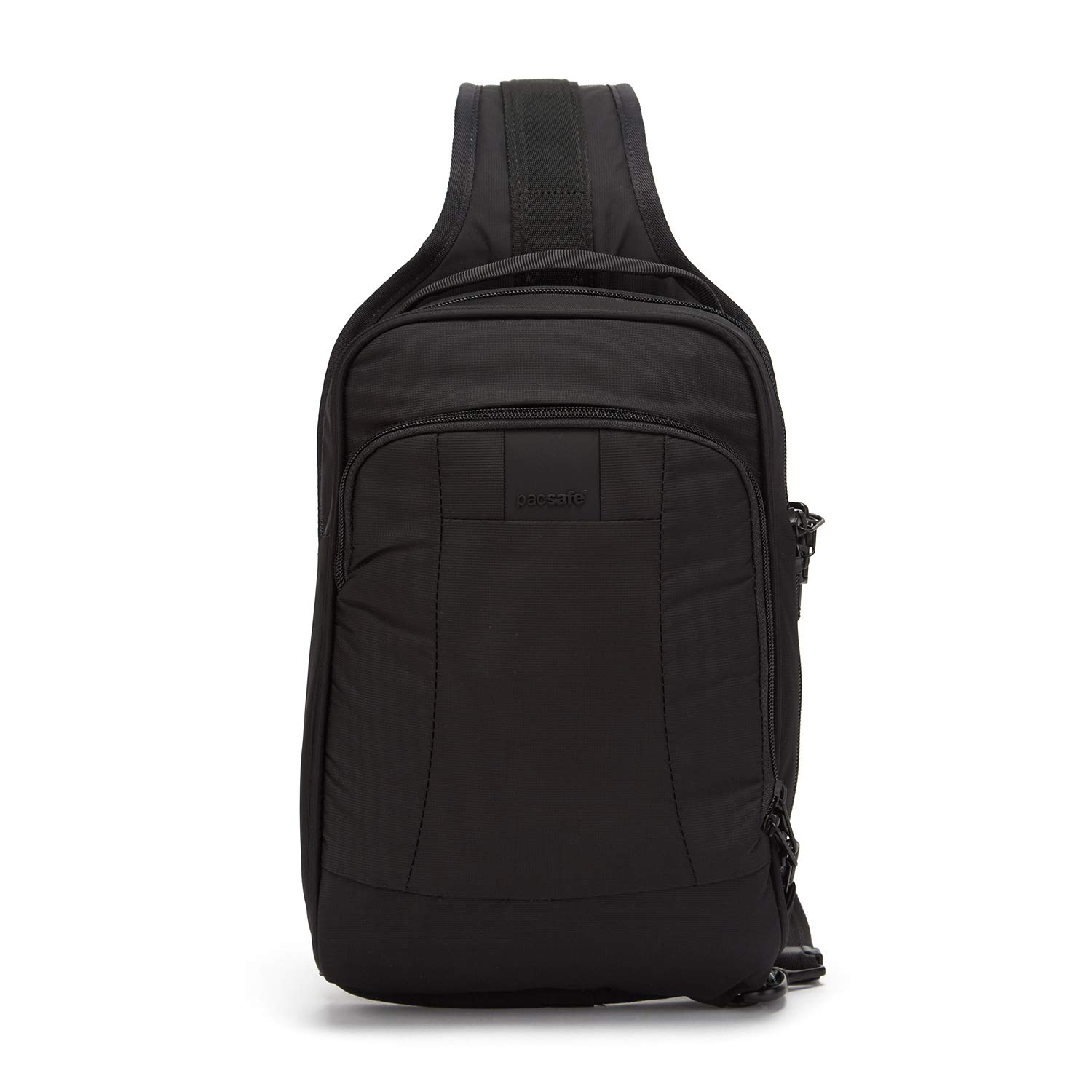 Pacsafe Metrosafe LS150 7 Liter Anti Theft Sling Backpack - Fits 7 inch Tablet with RFID Blocking Pocket and Lockable Zippers for Women & Men (Black)