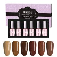 Elegant UV Gel Polish Kit, MIZHSE Soak Off LED Gel Nail Polish Profession Art Nail Varnish Manicure Pedicure Gel Set Gift Box 6pcs 18 ML