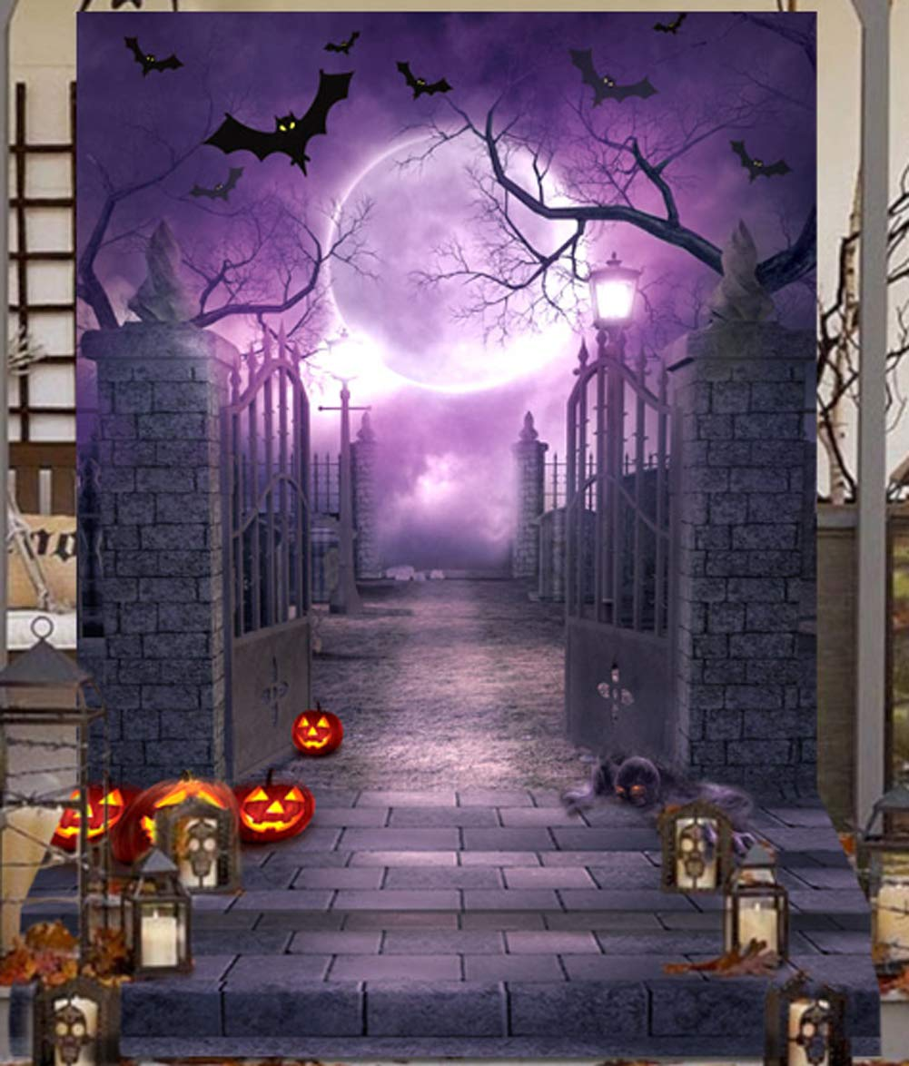 OurWarm 5x7FT Halloween Photo Cloth Backdrop Photography Background for Halloween Party Decorations Studio Photo Props