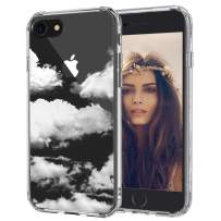 MOSNOVO iPhone SE 2020 Case, iPhone 8 Case, iPhone 7 Clear Case, Cloud Pattern Printed Clear Design Transparent Plastic Back Case with TPU Bumper Case Cover for iPhone 7 / iPhone 8 / iPhone SE 2020