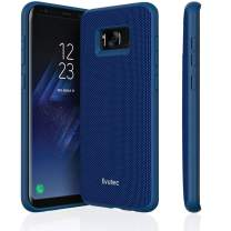 Evutec Galaxy S8 Case, [AERGO Series] Protective Ballistic Nylon Military Drop Tested Phone Case with AFIX Magnetic Vent Mount (Blue)