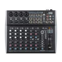 XTUGA MX12 Professional Audio Mixer 12Channels 3-Band EQ Audio Music Mixer Mixing Console With USB 16-Bit DSP 48V Phantom Power for Recording DJ Studio Streaming Stage Karaoke