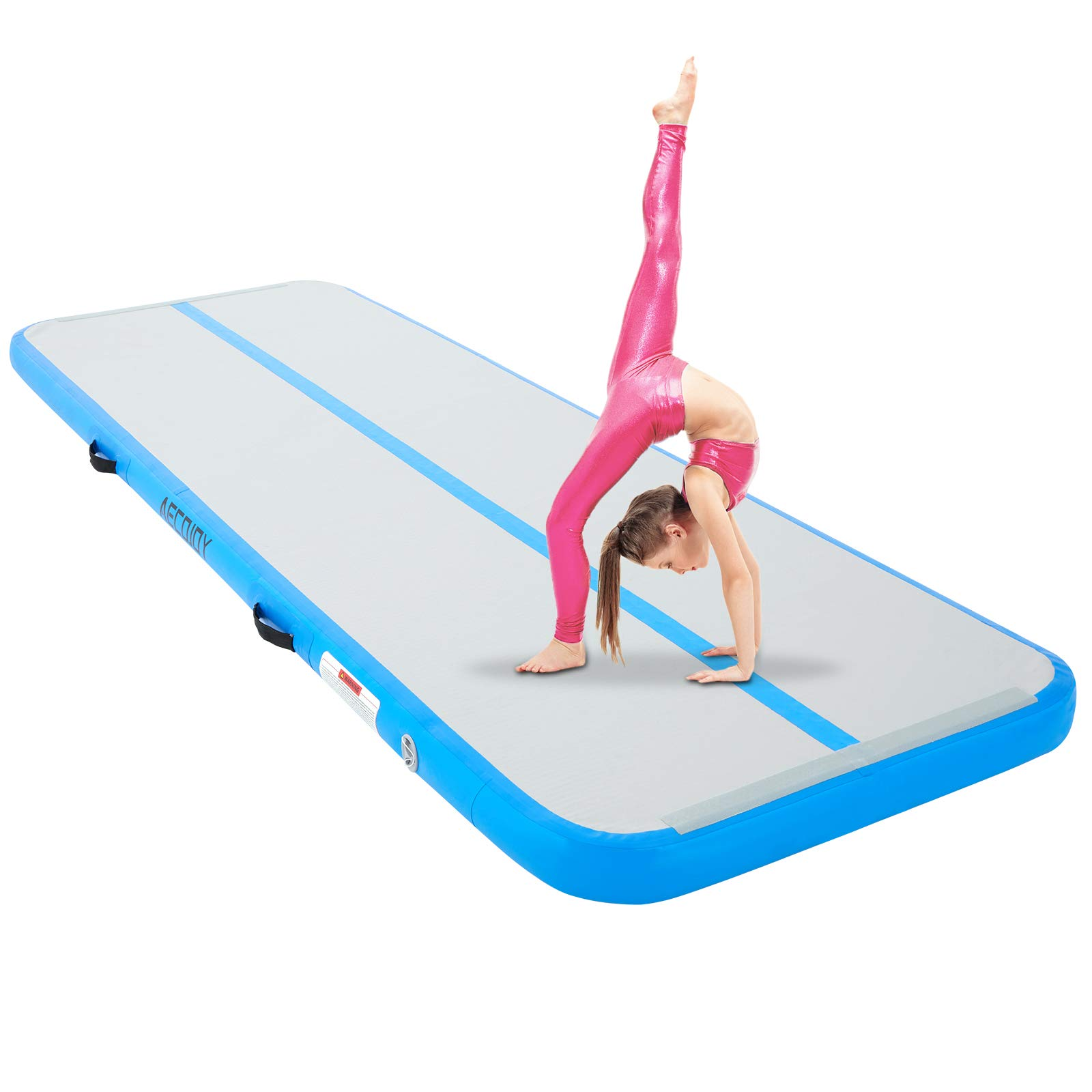 """AECOJOY Air Inflatable Track 13ft/16ft/20ft Gymnastics Training Mat 4"""" Thickness Tumbling Track Mats for Home Use/Training/Gym/Tumble/Water"""