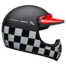 BELL Moto-3 Helmet (FastHouse Checkers Matte/Gloss Black/White/Red - Small)