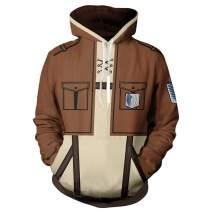 Tinyones Unisex Cosplay Long Sleeve Full-Zip Hooded Adult Jacke