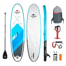 Naturehike Inflatable Stand Up Paddle Board (5/6 Inches Thick) with Premium SUP Accessories & Carry Bag | Wide Stance, Bottom Fin for Paddling, Surf Control, Non-Slip Deck