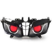 KT LED Optical Fiber Headlight Assembly for Honda CBR600RR 2013-2020 V2 Red Demon Eye