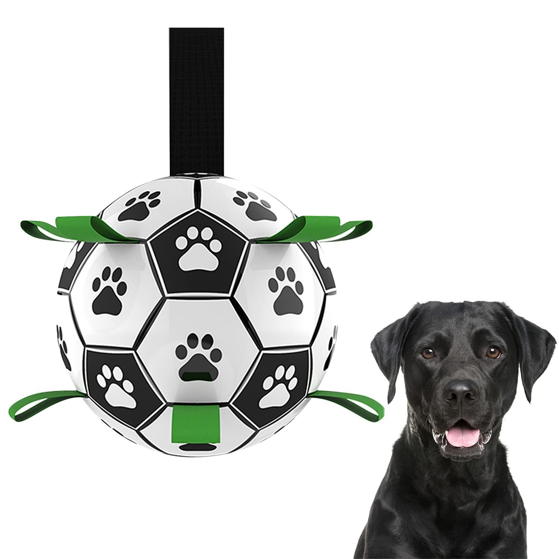 Dog Soccer Ball, Dog Balls, Interactive Dog Ball, Dog Football, Dog Toys Soccer Ball with Grab Tabs, Soccer Dog Ball, Activation Ball for Dog for Small & Medium Dogs