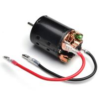GOOACTION 21T Turn 540 Brushed Electric Crawler Motor Shaft 3.175mm for 1/10 Scale D90 D110 RC Model Cars (with Two Cables)