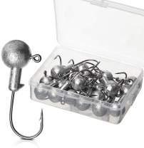Goture Jig Hooks Set Kit with Fishing Tackle Box Fish Head Hooks