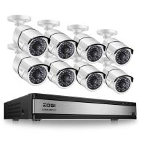 ZOSI 16 Channel 1080p Security System,16 Channel Full HD 1080p Hybrid DVR Recorder and 8 Outdoor/Indoor CCTV Bullet Camera 1080p with 100ft Long Night Vision and 105°Wide Angle (No Hard Drive)