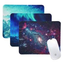 LIZIMANDU 3 Pack Mouse Pad with Stitched Edge,Computer Mouse Pad with Non-Slip Rubber Base,Mouse Pads for Computers Laptop Mouse 10.2 x 8.2 inch (3-Natural Scenery, 3 Pack)