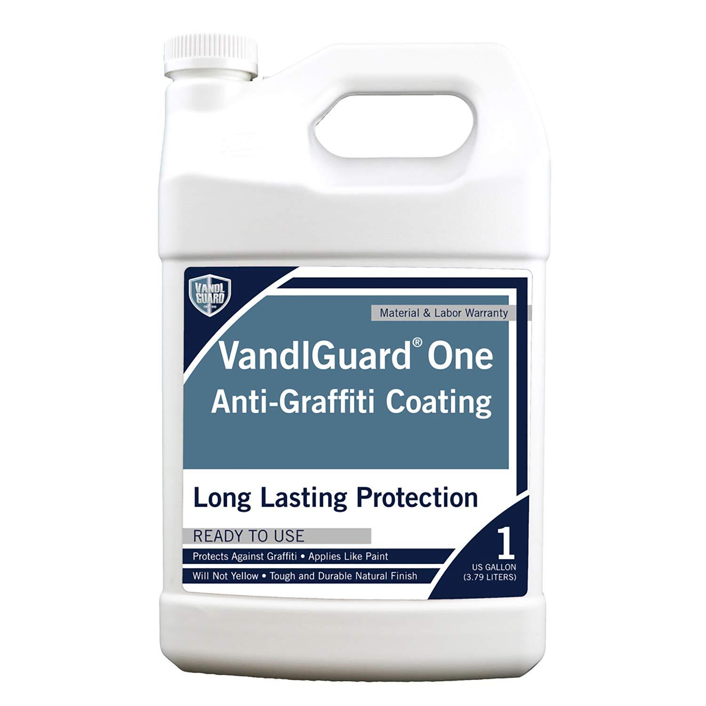 Rain Guard Water Sealers VG-7003 Vandlguardone Anti-Graffiti Coating 1 gal – Painted & Unpainted Concrete, Block, CMU, Brick, EIFS, Stucco, Wood & Painted Metal, Clear, Pail