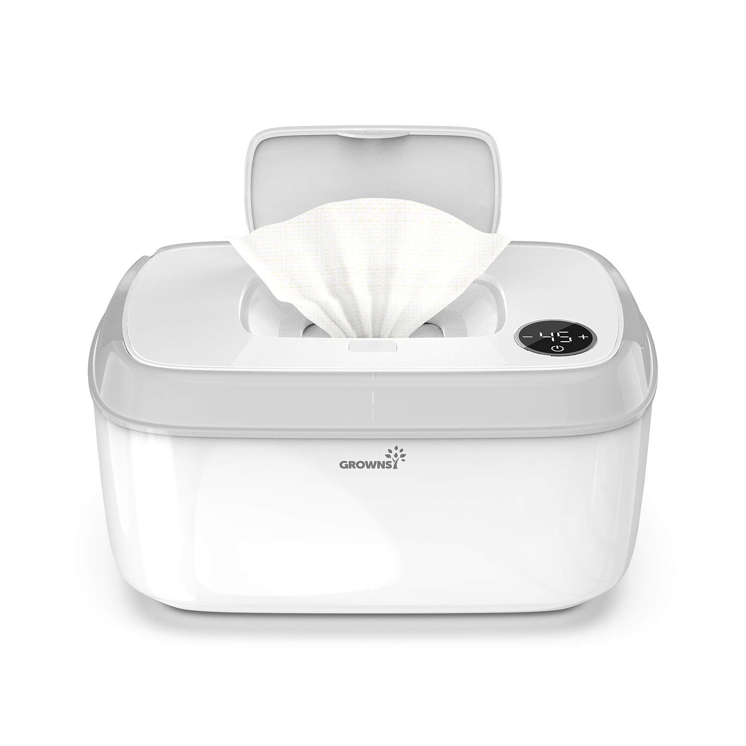 Wipe Warmer, Baby Diaper Wipes Dispenser Holder BPA-Free with Precise Temperature Control, Evenly and Quickly Top Heating, Large Capacity, Silent for Baby, Perfect Warmth
