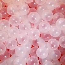 PlayMaty Clear Ball Pit Balls - Phthalate Free BPA Free Plastic Ocean Balls for Kids Swim Pit Fun Toys 100 Pieces for Toddlers and Baby Playhouse Play Tent Playpen Pool Birthday Party Decoration