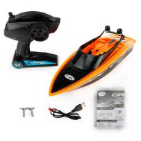 Remote Control Boat 2.4GHz 4CH Electric RC High Speed Racing Ship for Lake Boy Kids Toddlers Orange