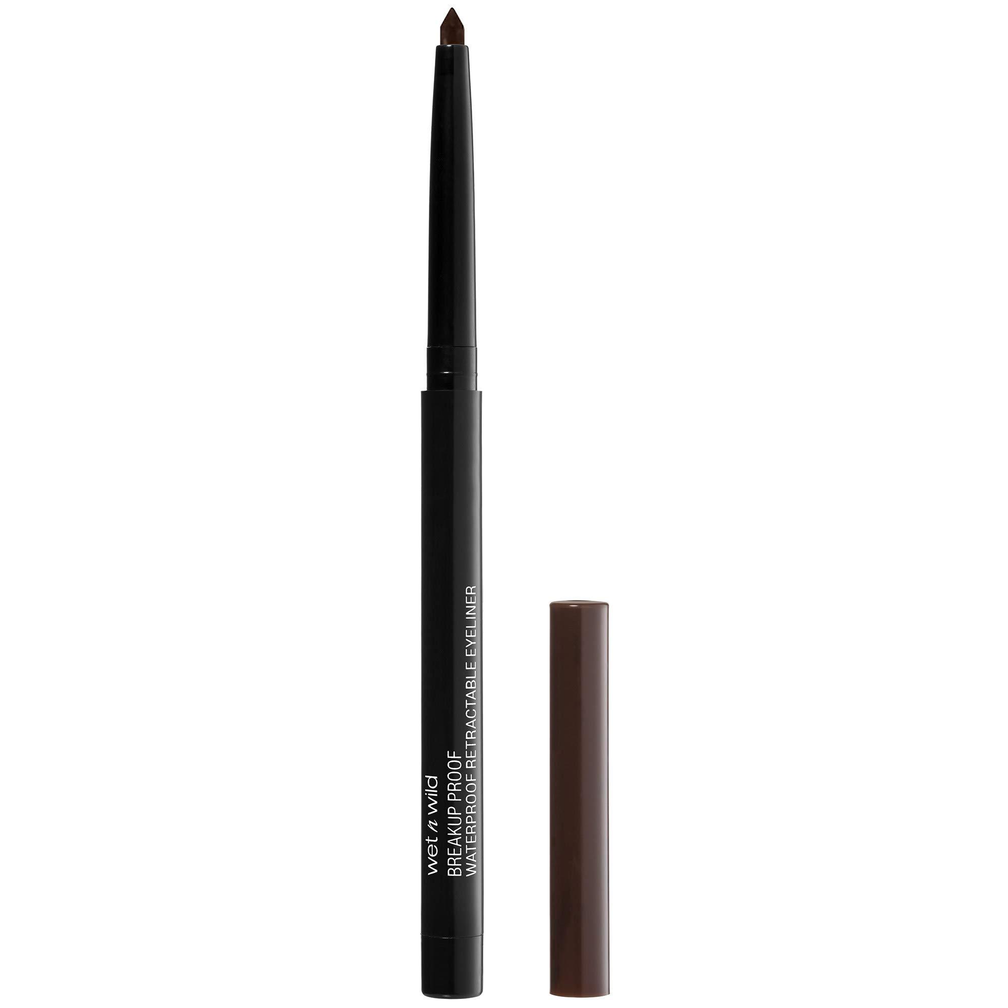 wet n wild Mega last breakup-proof retractable eyeliner, Dark Brown, 0.01 Ounce
