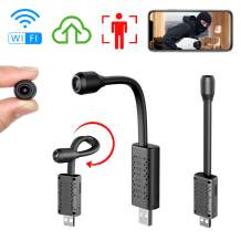 Smallest WiFi Spy Hidden Camera, ZTour Mini HD Portable IP Wireless Home Security Nanny Kid Camera with Motion Detection, Cloud Storage, Live Remote Monitoring for iOS/Android Mobile Phone, Window Pc