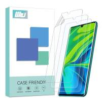 [3 Pack] WRJ for Xiaomi Mi Note 10/Xiaomi Mi Note 10 Pro Screen Protector, HD Film with The HydrateSkin (Work with The Fingerprint Sensor), [Not Glass] [Anti-Scratch] Flexible Film