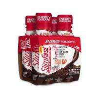 SlimFast Advanced Energy Rich Chocolate Shake – Ready to Drink Meal Replacement – 20g of Protein – 11 fl oz Bottle – 4 Count