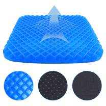 Gel Seat Cushion with Non-Slip Cover Super Breathable Gel Chair Seat Cushion for Back Pain, Tailbone, Coccyx & Sciatica Relief for Office Chair Car Wheelchair