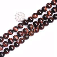 JOE FOREMAN Red Tiger Eye Beads for Jewelry Making Natural Gemstone Semi Precious 10mm Round 15""