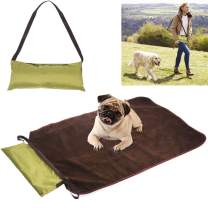 Petneces Pet Home Floor Mat Dog Outdoor Portable Reversible All Seasons Bed for Traveling Used