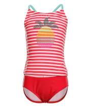 BELLOO Girls Two Piece Swimsuits Stripe Tankini Bathing Suits Swimwear for 3-14 Years