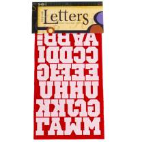 Sport Iron on Transfer Letters (Red, 1 1/2 Inch)