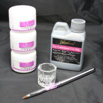 [US Seller,ship from CA,US ] anmas rucci 6in1 Nail Art Comb Set Acrylic Liquid Powder Dust Pen Glass Dappen Dish Kits Tools