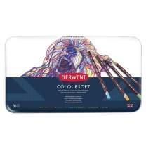 Derwent Colored Pencils, ColourSoft Pencils, Drawing, Art, Metal Tin, 36 Count (0701028)