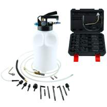 8MILELAKE 10L Two Way Pneumatic ATF Oil and Liquid Extractor with 14 pcs ATF Adapters Refill System Kit