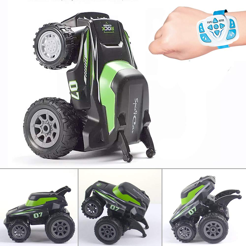 Remote Control Car for Boys RC Stunt Car 2.4Ghz Radio Control Rotating Standing Programming Electric Toys RC Car for 2,3,4,5 Years Old Toddlers Kids