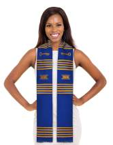Make Your Own Custom Kente Stole (Key Royal Blue and Gold)