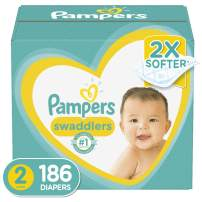 Diapers Size 2, 186 Count - Pampers Swaddlers Disposable Baby Diapers, ONE MONTH SUPPLY