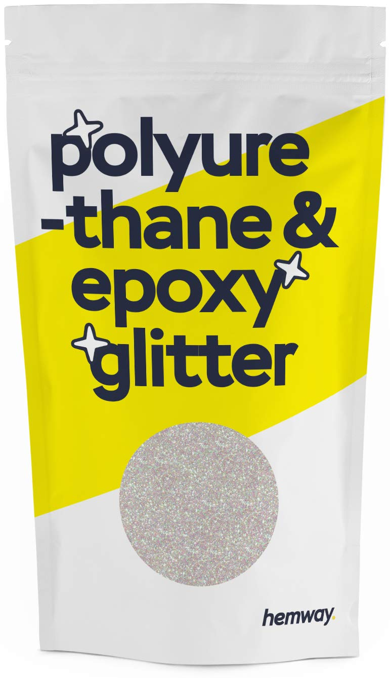Hemway Metallic Glitter Floor Crystals for Epoxy Resin Flooring (500g) Domestic, Commercial, Industrial - Garage, Basement - Can be Used with Internal & External (Mother of Pearl)