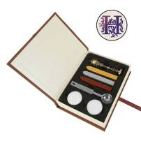 Wax Seal Stamp Kit, Yoption Vintage Alphabet Initial Letters H Electroplated Bronze Sealing Stamp with Gift Box Set (H)