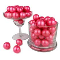 Color It Candy Shimmer Bright Pink 1 inch Gumballs 2 Lb Bag - Perfect For Table Centerpieces, Weddings, Birthdays, Candy Buffets, & Party Favors.